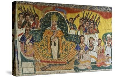 Scenes from Sacred Books, Paintings in Ura Kidane Meret Monastery--Stretched Canvas Print
