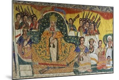 Scenes from Sacred Books, Paintings in Ura Kidane Meret Monastery--Mounted Giclee Print