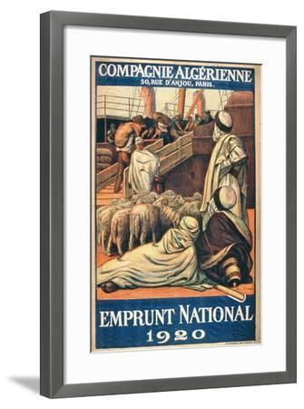 National Loans from the Algerian Company, Paris, 1920--Framed Giclee Print