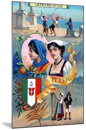 Italy, from a Series of Promotional Cards for Lefevre-Utile--Mounted Giclee Print