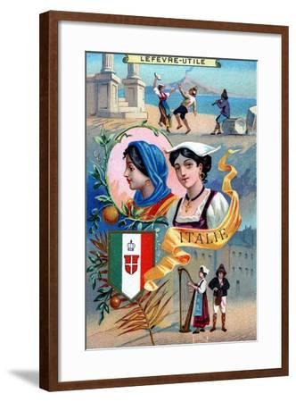 Italy, from a Series of Promotional Cards for Lefevre-Utile--Framed Giclee Print