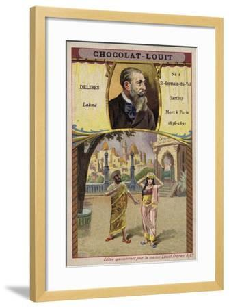 Leo Delibes, French Composer, and a Scene from His Opera Lakme--Framed Giclee Print
