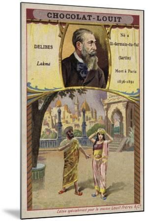 Leo Delibes, French Composer, and a Scene from His Opera Lakme--Mounted Giclee Print
