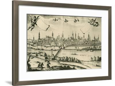 View of Lodi, 1720, from a Drawing by Friedrich Bernhard Werner--Framed Giclee Print