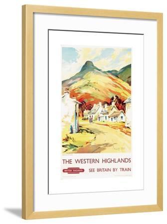 The Western Highlands, Poster Advertising British Railways, 1955--Framed Giclee Print