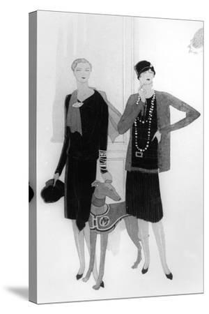 Dress Designs by Chanel, Illustration from 'Vogue' Magazine, 1 April, 1927--Stretched Canvas Print