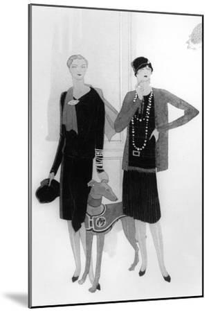 Dress Designs by Chanel, Illustration from 'Vogue' Magazine, 1 April, 1927--Mounted Premium Giclee Print