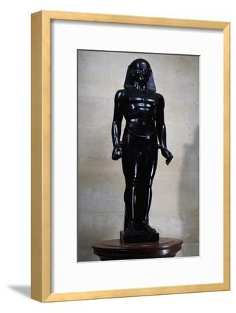 Statue of Osiris in Black Marble, by Antoine-Guillaume Granjacquet--Framed Giclee Print
