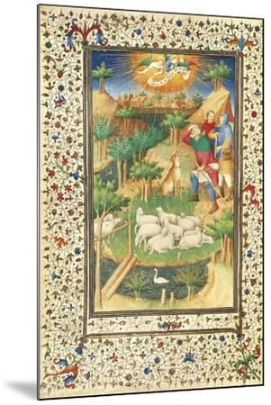 The Announcement to the Shepherds--Mounted Giclee Print
