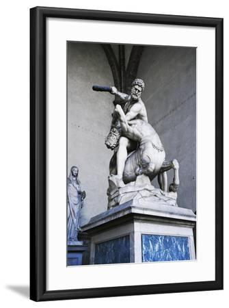 Hercules and Centaur Nessus, Marble Statue--Framed Giclee Print