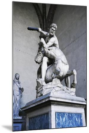 Hercules and Centaur Nessus, Marble Statue--Mounted Giclee Print