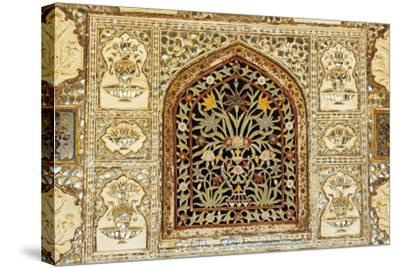 Decorative Inlaid Marble, Amer Fort or Amber Palace--Stretched Canvas Print