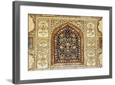Decorative Inlaid Marble, Amer Fort or Amber Palace--Framed Giclee Print
