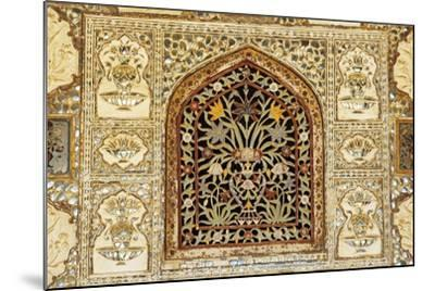 Decorative Inlaid Marble, Amer Fort or Amber Palace--Mounted Giclee Print