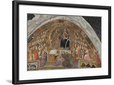 St Francis Contemplates Apparition of Jesus and Virgin--Framed Giclee Print