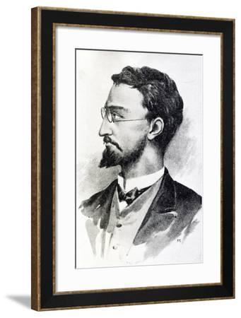 Portrait of Italian Anarchist Michele Angiolillo Lombardi--Framed Giclee Print