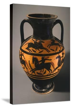 Amphora, Black-Figure Pottery from Vulci--Stretched Canvas Print