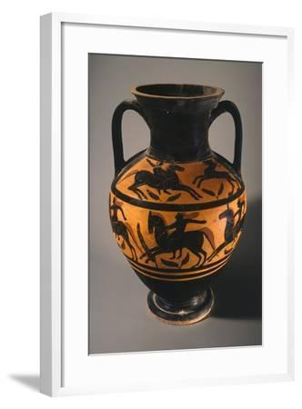 Amphora, Black-Figure Pottery from Vulci--Framed Giclee Print