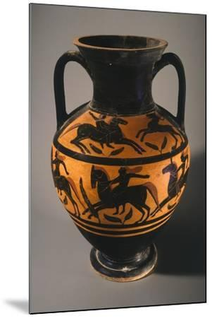 Amphora, Black-Figure Pottery from Vulci--Mounted Giclee Print