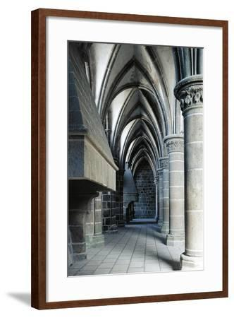 Fireplace in the Knights' Hall, Abbey of Mont-Saint-Michel--Framed Giclee Print
