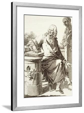 Portrait of Voltaire, Pseudonym of Francois-Marie Arouet--Framed Giclee Print