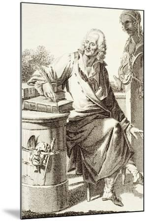Portrait of Voltaire, Pseudonym of Francois-Marie Arouet--Mounted Giclee Print