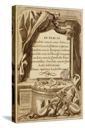 Frontispiece of Gabinetto Armonico--Stretched Canvas Print