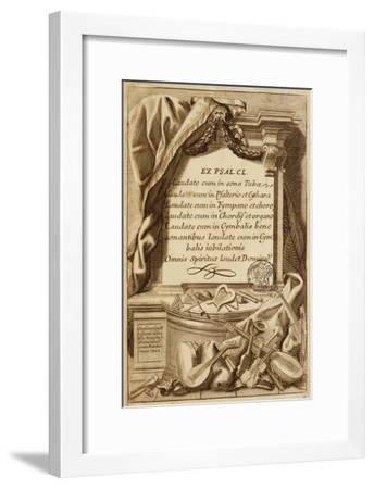Frontispiece of Gabinetto Armonico--Framed Giclee Print