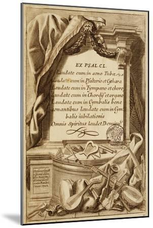 Frontispiece of Gabinetto Armonico--Mounted Giclee Print