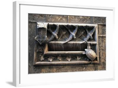 Swallows and Turtle, Decorations on Mailbox of Archdeacon's House--Framed Giclee Print