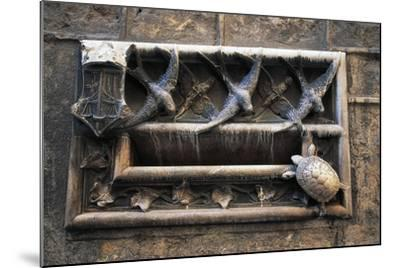 Swallows and Turtle, Decorations on Mailbox of Archdeacon's House--Mounted Giclee Print