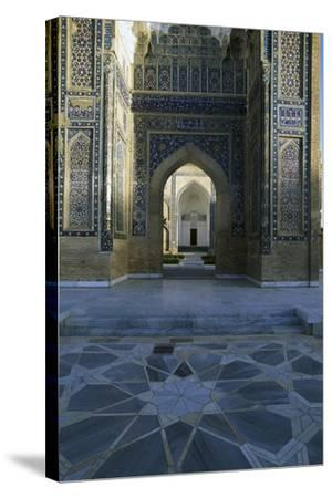 Entrance Detail from Gur-E Amir Mausoleum of Tamerlane--Stretched Canvas Print