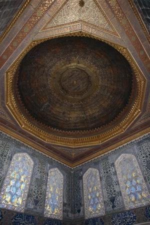 Stained Glass Windows and Ornate Ceiling of the Harem, Topkapi Palace--Framed Giclee Print