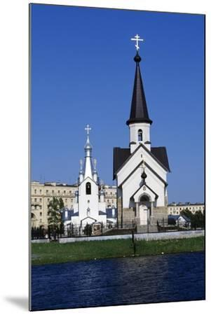 Bell Tower and Church of Religious Complex of St George--Mounted Giclee Print