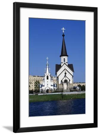 Bell Tower and Church of Religious Complex of St George--Framed Giclee Print