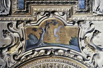 Gilded Stucco Framed Painting from Walls of Farnese Palace--Framed Giclee Print