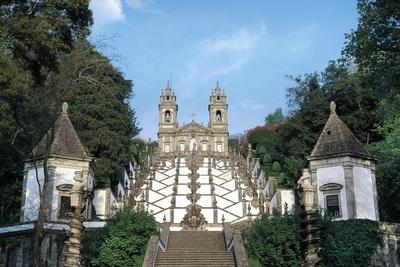Baroque Staircase in Bom Jesus Do Monte Sanctuary--Framed Giclee Print