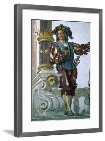 Detail of Frescoes in Interior Courtyard of Peles Castle--Framed Giclee Print