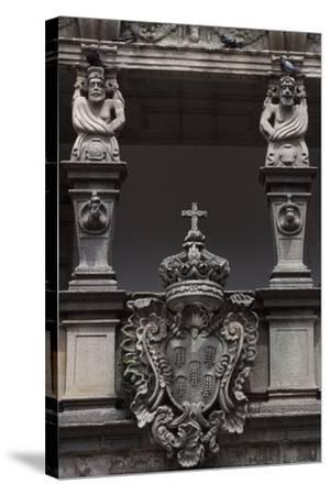 Architectural Detail from an Historic Building in Republic Square--Stretched Canvas Print