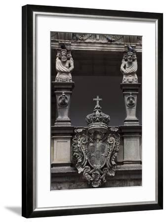 Architectural Detail from an Historic Building in Republic Square--Framed Giclee Print
