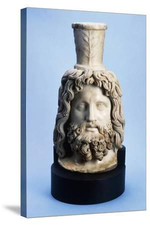 Marble Head of Egyptian God Serapis, from Mithras Walbrook to Londinium--Stretched Canvas Print
