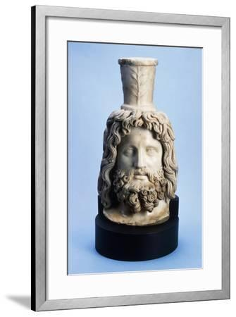 Marble Head of Egyptian God Serapis, from Mithras Walbrook to Londinium--Framed Giclee Print