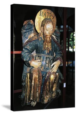 Matthew Evangelist, Polychrome Wood Statue, Tarragona Cathedral--Stretched Canvas Print