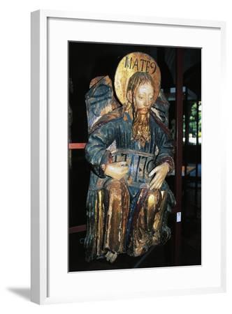 Matthew Evangelist, Polychrome Wood Statue, Tarragona Cathedral--Framed Giclee Print