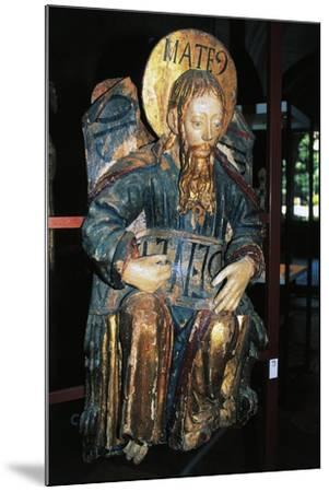 Matthew Evangelist, Polychrome Wood Statue, Tarragona Cathedral--Mounted Giclee Print