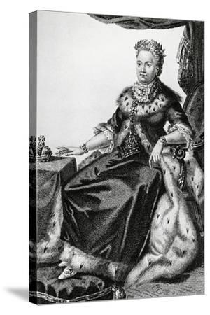 Portrait of Sophia Augusta Frederica of Anhalt-Zerbst--Stretched Canvas Print