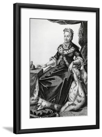 Portrait of Sophia Augusta Frederica of Anhalt-Zerbst--Framed Giclee Print