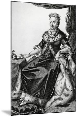 Portrait of Sophia Augusta Frederica of Anhalt-Zerbst--Mounted Giclee Print
