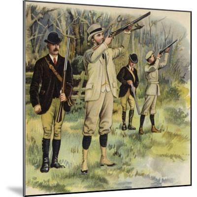 King George V as Prince of Wales, Shooting at Sandringham-Henry Payne-Mounted Giclee Print