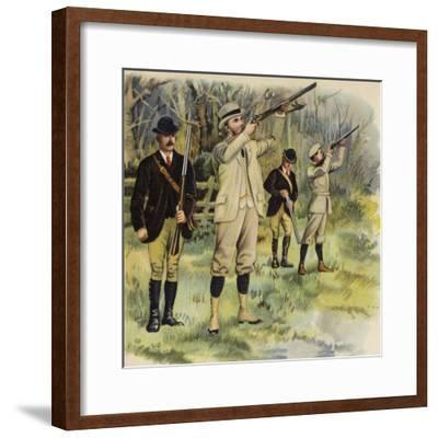 King George V as Prince of Wales, Shooting at Sandringham-Henry Payne-Framed Giclee Print